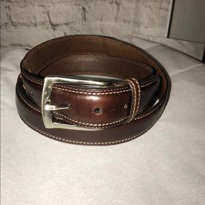 "Mens Macy's genuine brown leather dress belt 40"""